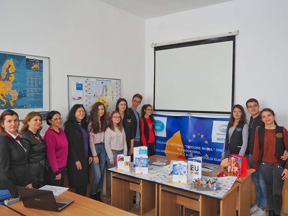 """Proiecte europene la Colegiul Național """"Grigore Moisil"""" Onești"""