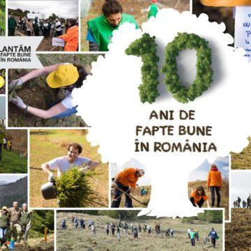 Plantăm fapte bune în România – numărăm puieții plantați cu gândul la voluntarii care ne susțin de la distanță