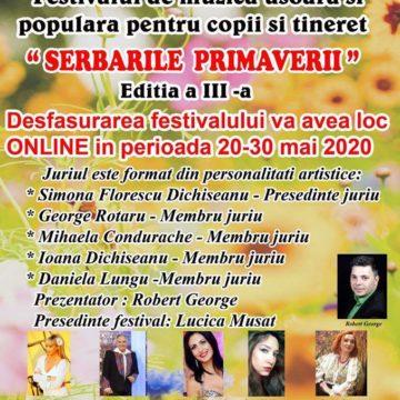 """Premieră la Târgu Ocna  – A III a ediție a Festivalului  """"Serbările Primăverii""""  se va desfășura on – line"""