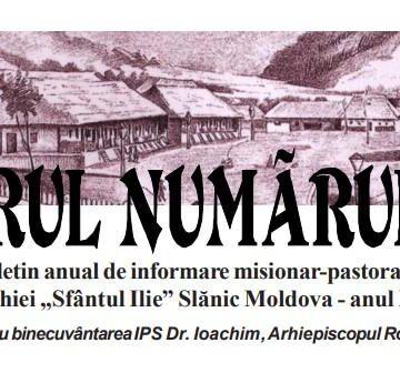 """""""În vremuri de încercare""""  Revista  """"Izvorul  Numărul  Unu"""", Slănic Moldova  anul  XV"""