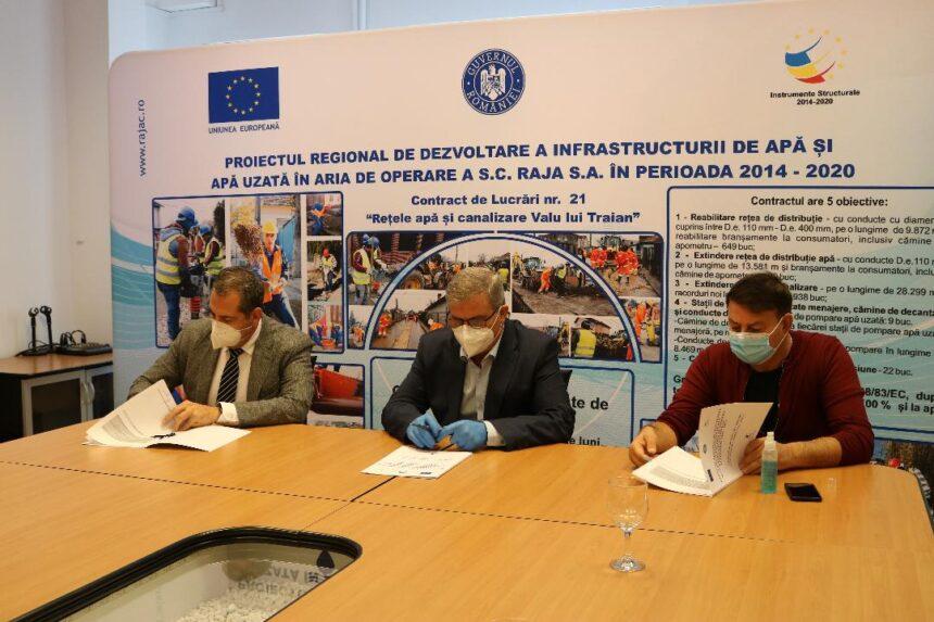 RAJA S.A. continuă extinderea și modernizarea  rețelelor de apă-canal în aria de operare