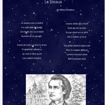 """Omagierea poetului Mihai Eminescu la Colegiul Național """"Grigore Moisil"""" din Onești"""