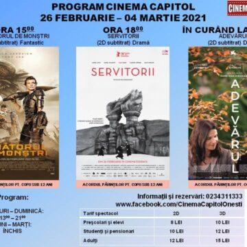 """Pe  ecran, la Cinematograful """"Capitol"""" din Onești"""