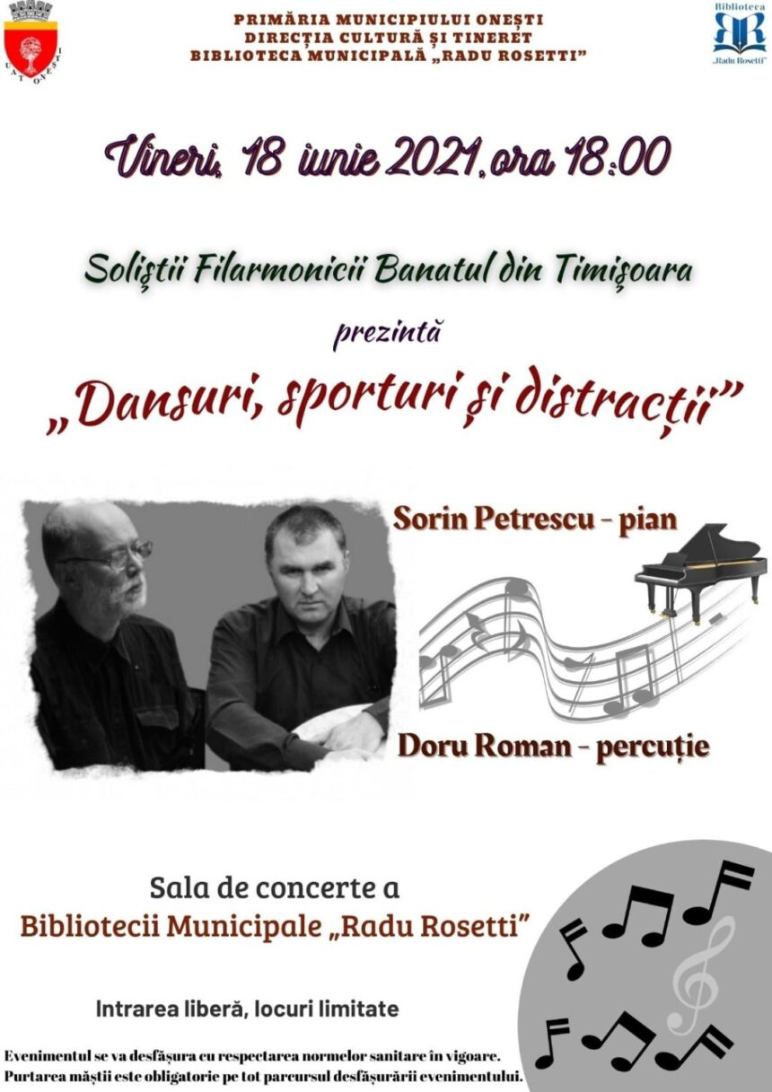 """Concert  în premieră la Onești – """"Dansuri, Sporturi  și Distracții"""""""