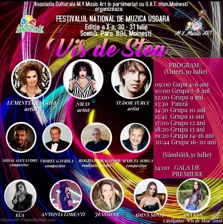 """La  Moinești, Festivalul  """"Vis de stea"""" a ajuns la ediția a X a"""