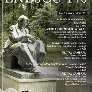 Recital cameral  la Tescani- 140 de ani de la nașterea lui George Enescu