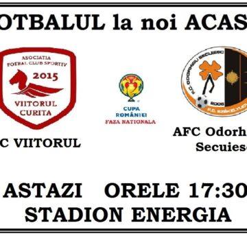"""Fotbal pe  Stadionul """"Energia"""" în """"Cupa României"""""""