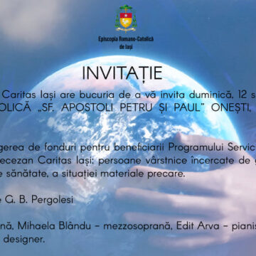 "Invitație   la  Concertul  caritabil ""Spes mundi – Speranţa lumii"""