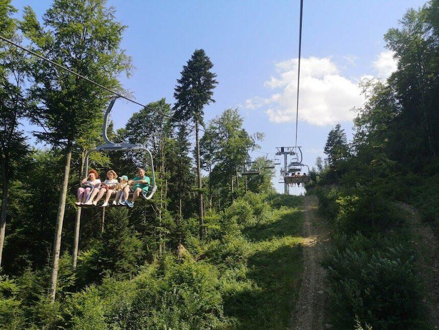 Telescaunul din Slănic-Moldova, la dispoziția turiștilor în ultimul weekend din sezonul vară-toamnă