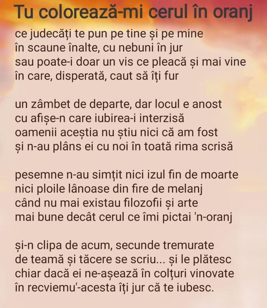 """""""Scrie-mă  cu totul"""" –  versuri de Ștefania Pușcalău"""